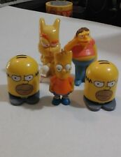 The Simpsons Figures Bart And Homer Simpson + Barney Figure Lot +Bonus Angry Cat