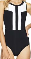 NWT Jets by Jessika Allen Classique High Neck One Piece Black/White Size 8