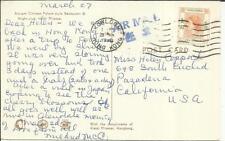 """Hong Kong SG#187(single frank) postcard view """"Ancient Chinese Palace"""