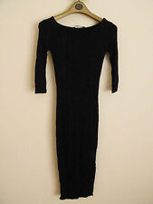 LOVELY LADIES MISO BLACK T-SHIRT LIKE LONG DRESS SIZE 6 - See listing for detail