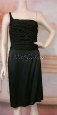 $3265 New NARCISO RODRIGUEZ Satin Black Silk Rope Weaved Layer Fitted Dress 6 42