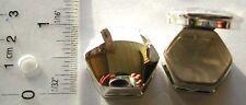 US SELLER-Octagonal SOLID 925 sterling silver trinket box pill box #PYI24