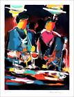 """Victor HASCH - Lithographie Originale Signée au crayon """"Couple au Bar"""" 76x56 cm"""