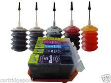 5 Refillable ink cartridge for Canon PGI-5BK CLI-8:MX700 MX850 + 5x30ml ink 1P