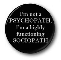I'M NOT A PSYCHOPATH  - 1 inch / 25mm Button Badge - Sherlock Sociopath