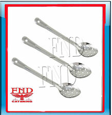 Perforated Basting/Serving Spoons , Set Of 3 , Stainless Steel ,  290 mm Long