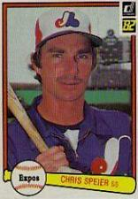 Chris Speier Expos 1982 Donruss #306