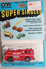 1970's Playart Charmerz Super Singles Fire Pumper Truck, Mint on Card