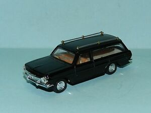 MODIFIED TRAX EH HOLDEN STATION WAGON REPAINTED IN BLACK as HEARSE with coffin