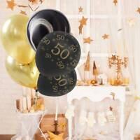 18/25/30/40/50/70 Digital Printed Latex Balloon Gold Black Birthday Party Decor
