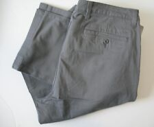 Dockers Mens D2 Straight Fit Washed Khaki Stretch Pants Gray Sz 42x32 - NWT