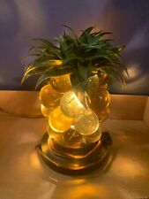 Vintage Pineapple Table Lamp - Ornate Glass Beautiful Accent Piece - Rare Find