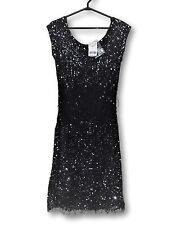 Black Sequin Dress XXS LE CHATEAU Stretch