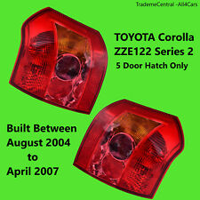 Toyota Corolla Tail Lights 2004 2005 2006 2007 Hatchback Rear Right Left Side
