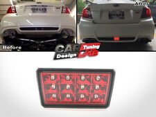 Red F1 Style LED Rear Fog Light 4th Brake/Tail Lamp For 11-14 Subaru WRX STi