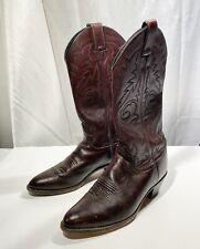 Justin Women's Black Cherry Western Boots L2630 Burgundy Cowboy Sz 7 1/2 B