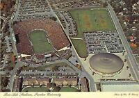 IN Lafayette PURDUE UNIVERSITY Ross-Ade STADIUM & Basketball Aerna 4x6 postcard
