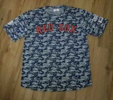 Boston Red Sox Ted Williams Camo SGA Polyester jersey T-Shirt men's size-XL New