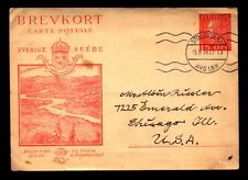 Sweden 1934 Cacheted Postal Card Used / Corner Creases - L6714