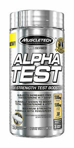 MuscleTech Pro Series Alpha Test 120 Capsules Rapid Testo Booster.
