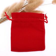 New 50pcs Red  Jewelry Velvet bag Drawstring bags Christmas Gift Pouches 9*12cm