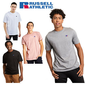 Russell Athletic Mens Heritage Baseliner Premium Cotton Short Sleeve T-Shirt Tee