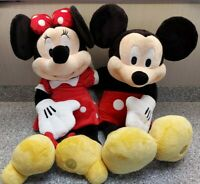 """Authentic Disney Store Exclusive 24"""" Red Minnie & Mickey Mouse Plush Dolls W818"""