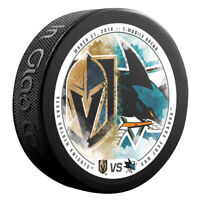 VEGAS GOLDEN KNIGHTS vs SAN JOSE SHARKS NHL Matchup Hockey Puck 3/31/18 - NEW