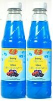 (2 Pack) Jelly Belly Berry Blue Syrup For Ice Treats Gluten Free 16Fl Oz BB 4/22