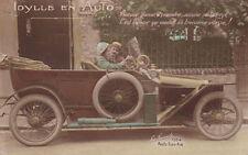 Edwardian Car Couple Automobile Original Antique Photo Postcard