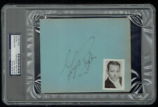 George Raft (d. 1980) signed autograph 5x6 cut Actor Scarface (1932) PSA Slabbed