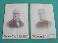 McNeills Rundle Street pair of Studio Cabinet Photo Cards
