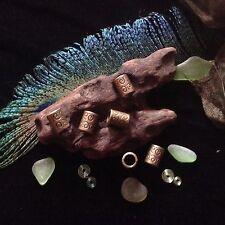 Dreadlock Beads 6 x Antique Bronze Celtic Spiral Viking 6mm Hole Dread Tube Bead