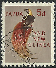 PNG 1963  5d Birds of Paridise FU  (8)  Clean, Thining on right edge