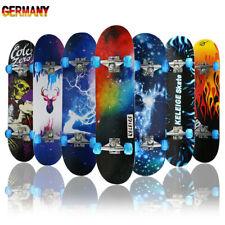 Skateboard Funboard Holzboard komplett 80x20cm Ahornholz Motiv/Rolle Auswahl NEU