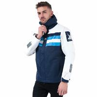 Mens Helly Hansen Heritage Sail Jacket In White Blue- Zip Fastening With Hook