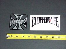 100/% ORIGINAL!! 2 MEDIUM WEST COAST CHOPPERS STICKER PACK 2 SMALL 1 LARGE