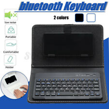 Mini Portable Leather Wireless bluetooth Keyboard for iPhone Android Smartphone