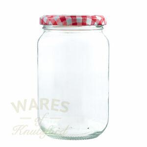 Jam Jars, 1lb, 370ml, FSA approved x 12,24,36,56,100,192 glass jam jars & lids