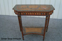 59890  QUALITY Custom Made  Hand Painted  Decorator Console Hall Table Stand