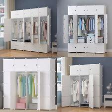 Glamexx24 Portable Garderobe für hängende Kleidung tragbarer Kleiderschrank Cube