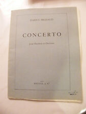 Partition Concerto pour Hautbois et Orchestre Darius Milhaud Heugel & Cie