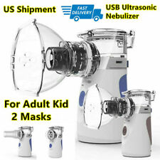 Adult Kid 2 Mask USB Portable Ultrasonic Nebulzer Machine Inhaler Mesh Atomizer