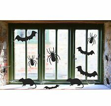 30 x Halloween Spooky Bats Spiders Rats Silhouette Window Cut Outs Decoration
