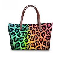 Fashion Leopard Women Lady Handbag Shoulder Bag Messenger Tote Purse Shopper Bag