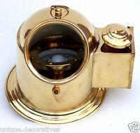 Nautical Binnacle helmet gimbelled compass with classy shiny brass finish home