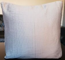 """x4 Grey Special Edition Paoletti Pinstripe Cushion Covers 18x18"""" Thick Material"""