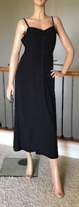 UNIQLO INES DE LA FRESSANGE WOMEN BLACK RAYON CAMISOLE DRESS SIZE M NWT