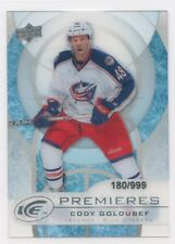 12/13 UPPER DECK ICE ROOKIE RC #27 CODY GOLOUBEF 180/999 BLUE JACKETS *52636