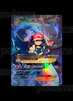 Custom Holo Pokemon Card - Mega Ash Charizard EX - Gift